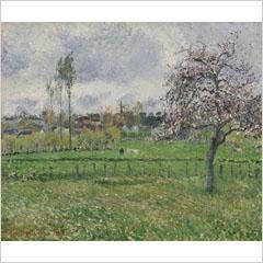 カミーユ・ピサロ-エラニー牧場-1885ss