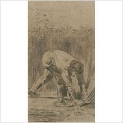 フィンセント・ファン・ゴッホ-鎌で刈る人-1880s
