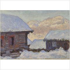 06クロード・モネ-雪中の家とコルサーズ山-1895s