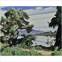 06安井曽太郎-十和田湖-1932s