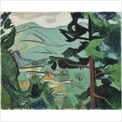 08安井曽太郎-緑の風景-1955s