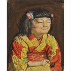 16岸田劉生-麗子微笑像-1921s